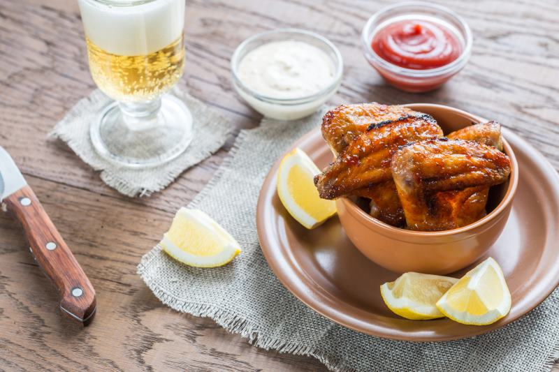 Scharfe Lemon-Pepper Wings